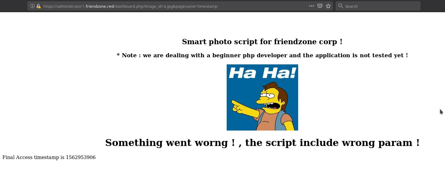 Friendzone | HackTheBox Writeups